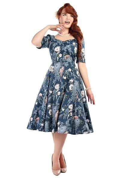 Dolores Doll Winter garden dress, Blå