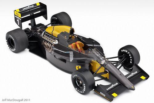 Ferrari 641/2 carbon fiber test car Cutaway