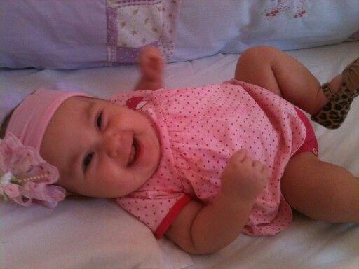 My baby Nikole smiling