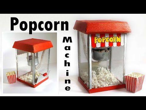 ▶ Cute Miniature Popcorn Machine Tutorial - YouTube