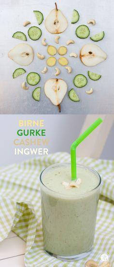 #SmoothieMontag Birne-Gurke-Cashew-Ingwer Smoothie