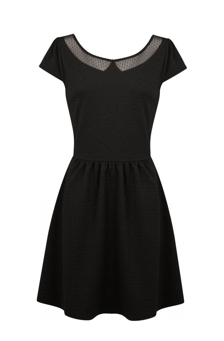 Robe fluide petites manches noir - robes femme - naf naf