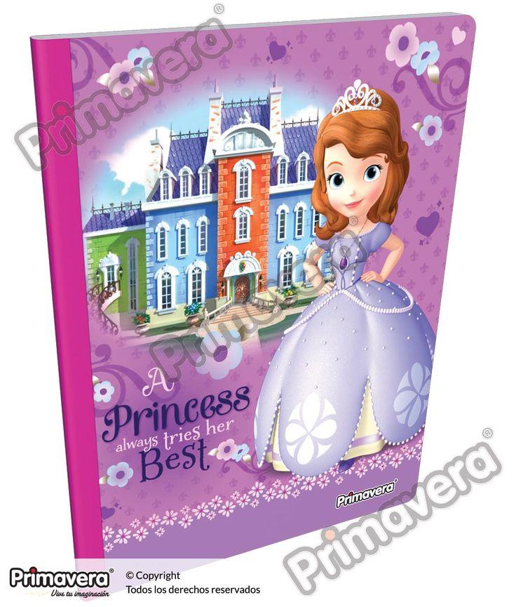 Cuaderno Cosido Infantil Princesita Sofía http://escolar.papelesprimavera.com/product/cuaderno-cosido-infantil-sofia-primavera-3/