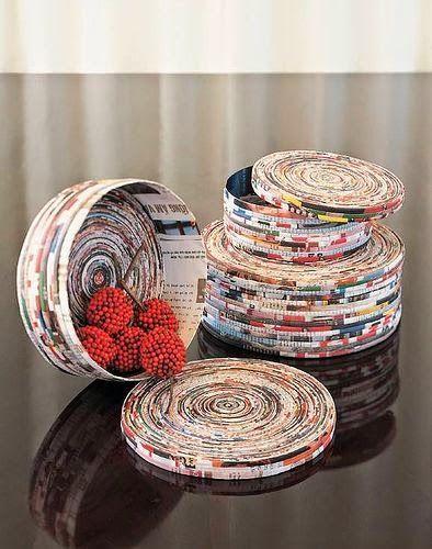 Decore com Gaby: O jornal que não é para ler. reciclagem de papel,jornal,recicle