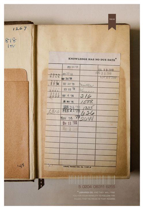 boeken van de bieb, met een terugbreng datum voorin