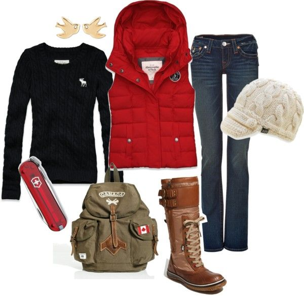 """Winter Hike"" by wesche27 on Polyvore. This would an awesome everyday outfit with some different boots :)"