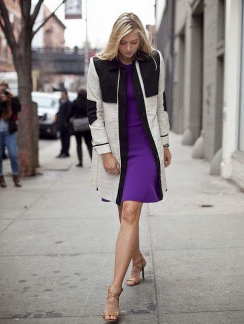 Maria Sharapova with purple mini dress and blazer