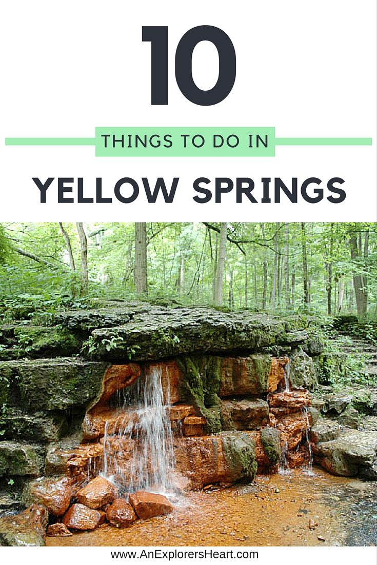 10+ Things to do in Yellow Springs Ohio Yellow Springs, Ohio is a small town located about an hour from Columbus and about 15 minutes from Dayton. Known for its hippie-vibe and outdoor attractions, Yellow… View Post