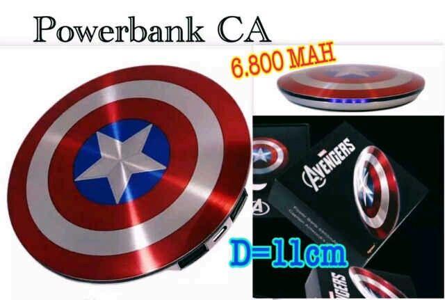 #powerbank #captainamerica @ 180.000