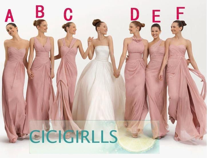 Custom Formal Evening Dress Prom Bridal Gowns Party Bridesmaid Wedding Dresses.....   think maybe do the same color dress in different styles what do you think regardless PURPLE is the color <3