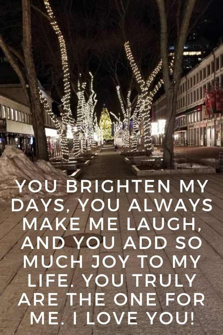 Merry Christmas Darling Quotes You Brighten My Days You Always Make Me Laugh And You Add So Merry Christmas My Love Darling Quotes Merry Christmas Darling