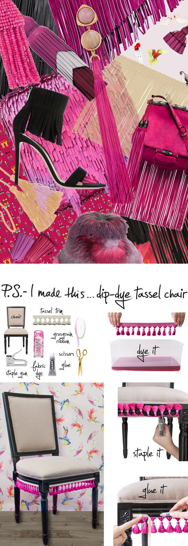 Dip-Dye Tassel Chair