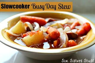Slow Cooker Busy Day Stew | This can cook all day while you are at work!