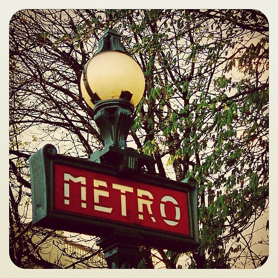 My photo of a retro Metro sign in Paris — put through Instagram.See the rest of my photography portfolio on RedBubble: http://www.redbubble.com/people/felinemind