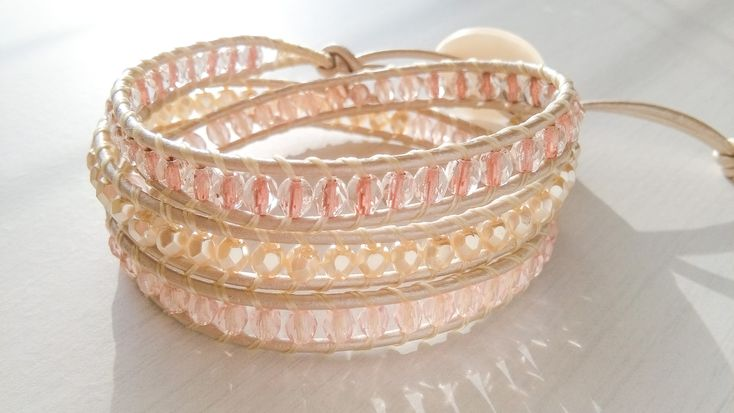Pink Heaven Delish 3 Layered Wrap Bracelet
