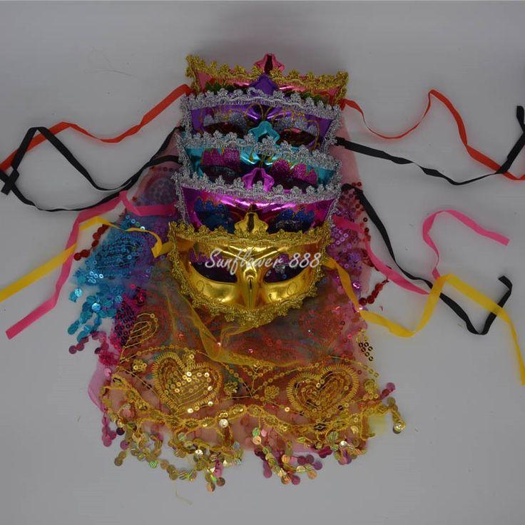 Шарм леди женщины венецианский маскарад принцесса марди гра ну вечеринку марли вуаль маски высокое качество