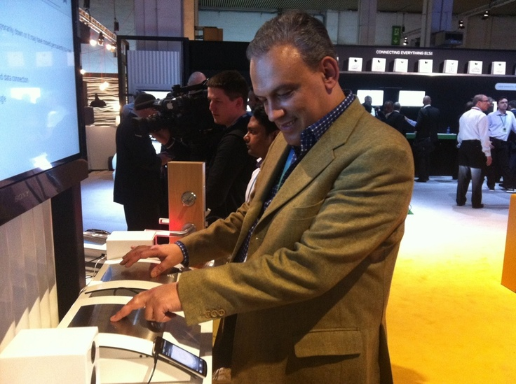 "Making my body the transmission device with ""Connected Me"" #MWC 2012"