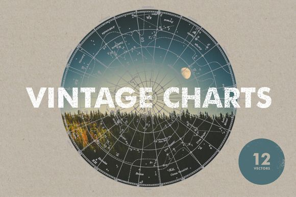 Vintage Charts - 12 Vectors by Offset on Creative Market