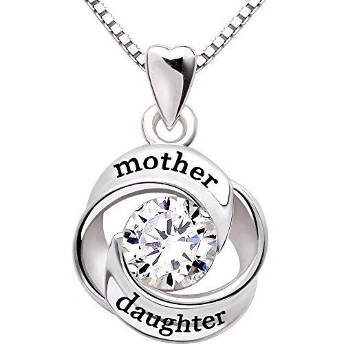 Mothers Day Gifts Gift For Mother Daughter Necklace Pendant Sterling Silver NEW #Kbrand
