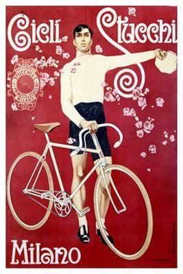 Vintage Italian Posters ~ #illustrator #Italian #posters ~ Vintage Cycling Posters With Italian Themes