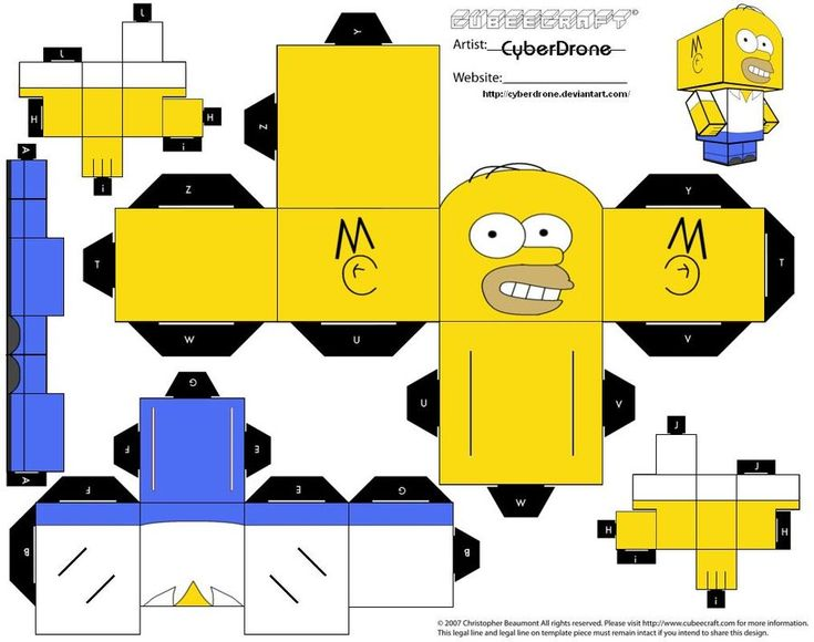 Cubee - Homer Simpson by CyberDrone.deviantart.com on @deviantART