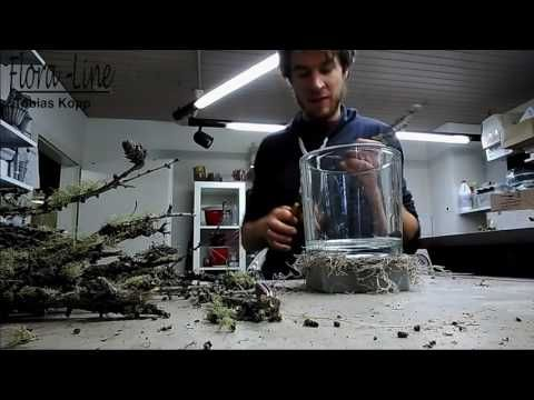 Windlicht glas mit naturmaterialien ausschm cken for Youtube weihnachtsdeko