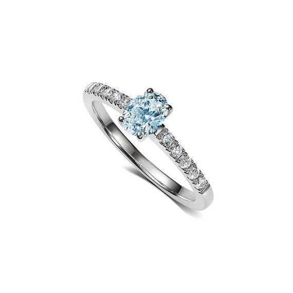 Lucienne Ring with Aquamarine in Platinum