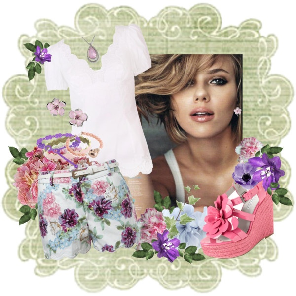 'Floral Fun In The Sun', created by rjaynne on Polyvore: Fashion Ensembles