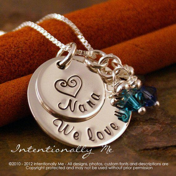Https Www Etsy Com Listing  New Mom Necklace Custom Kids Names
