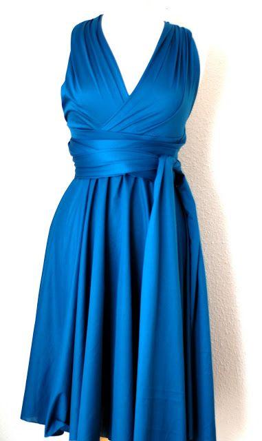 Infinity Dress, Wickelkleid kurz nähen - viele Tragevarianten möglich, auch super als Abendgaderobe, festliche Mode, Abendkleid