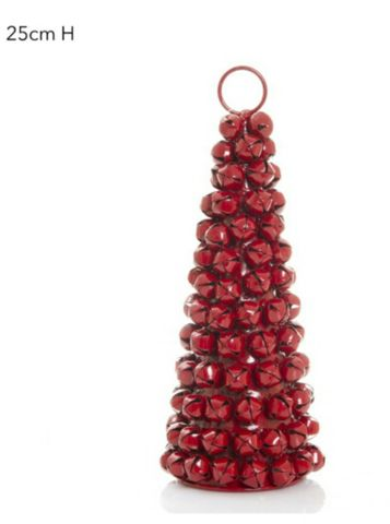Jingle bell tree red 25cm
