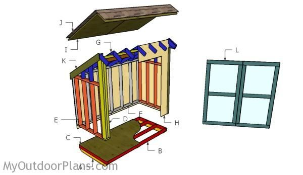 Lean to storage shed plans free outdoor plans diy shed for Lean to plans free