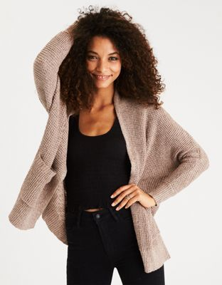 AEO Waffle Knit Boyfriend Cardigan by  American Eagle Outfitters | Sweater weather forever.Sweater weather forever. Shop the AEO Waffle Knit Boyfriend Cardigan and check out more at AE.com.