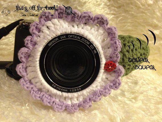 So cute - squeaker Camera Lens Buddies!
