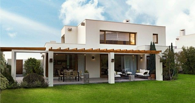 Fachada mediterranea detalles de fachadas pinterest for Casa moderna mediterranea