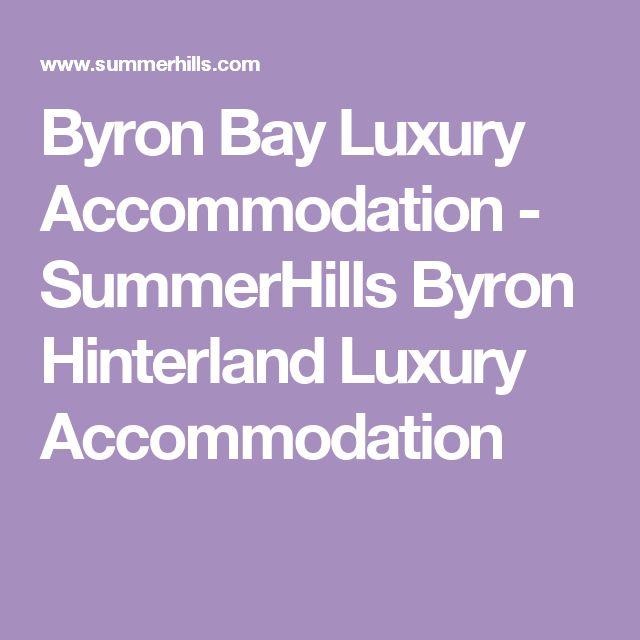 Byron Bay Luxury Accommodation - SummerHills Byron Hinterland Luxury Accommodation