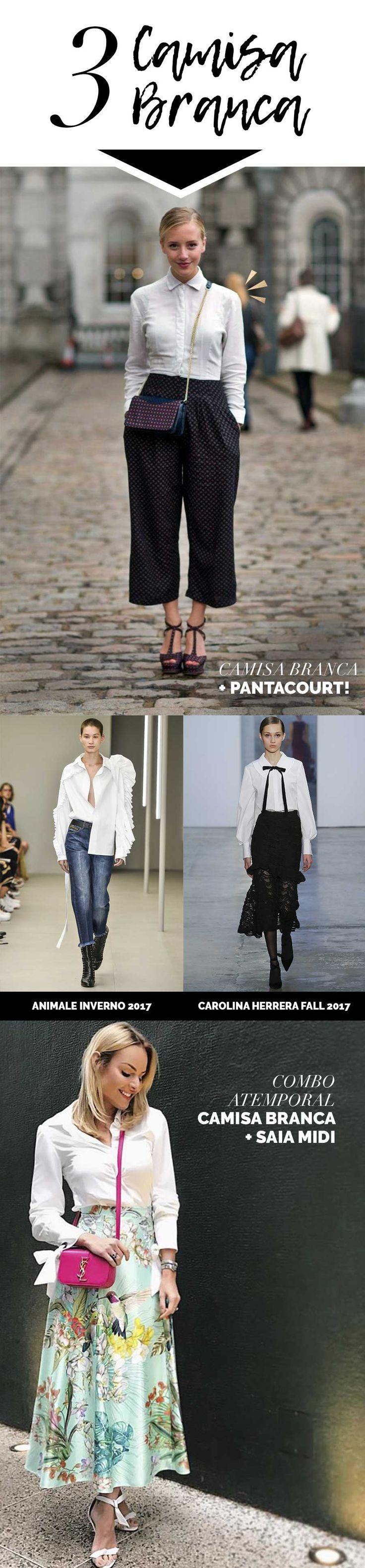 Layla Monteiro indica as 8 peças que não saem de moda. Camisa branca é uma peça clássica e que combina com todos os estilos.