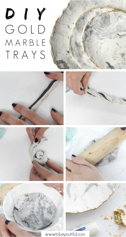 DIY Marble tray tutorial // DIY Marmor Schmuck Schalen