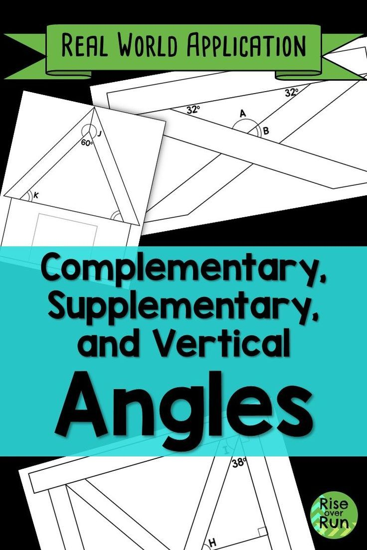 Angle Relationships Real World Application Elementary School