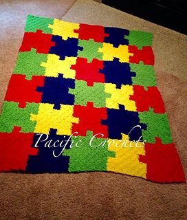 This is a autism awareness blanket that is adjustable to any size.                                                                                                                                                      More