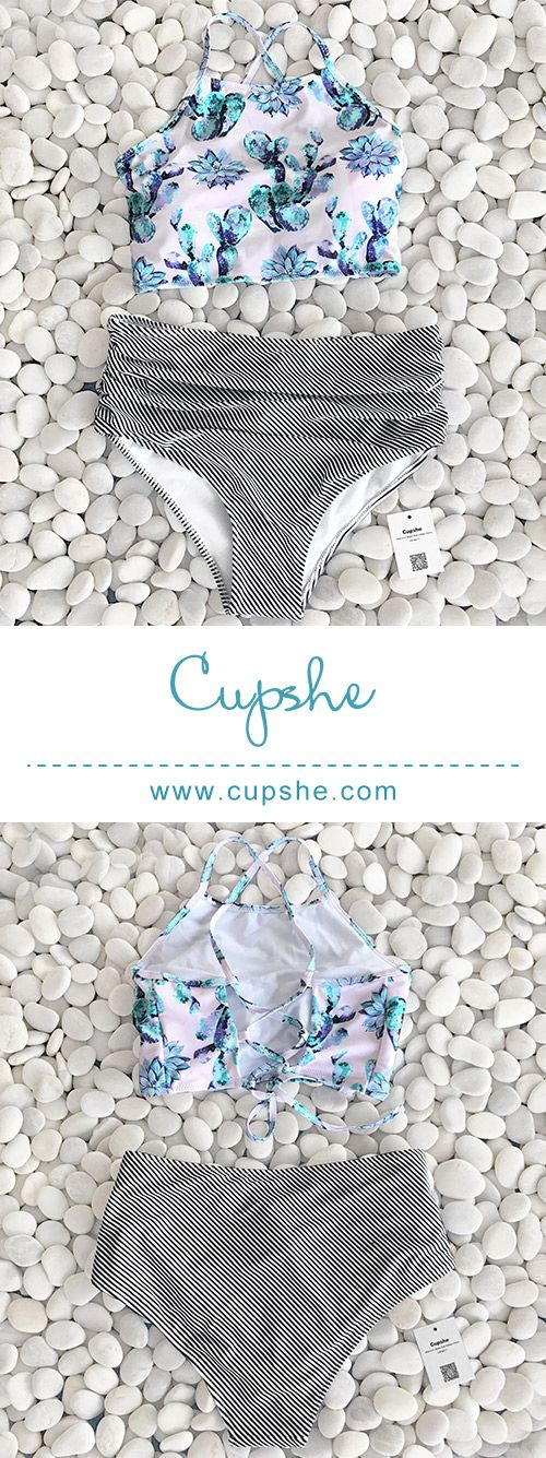 Inspire confidence and beauty through redefined and affordable fashion.Short shipping time. High rise is for best support, unique print and design is for fashion look. Check it now at Cupshe.com