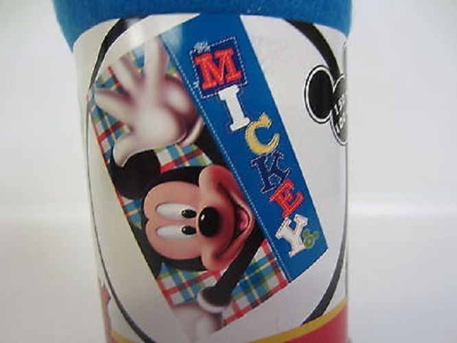 Mickey Mouse Plaid Style Childrens Throw Blanket 2204000818
