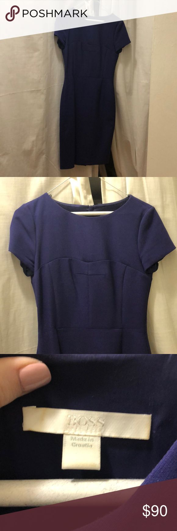 BOSS by Hugo Boss Purple Dress Gorgeous work dress. Super comfortable. Pristine condition. Hugo Boss Dresses Midi
