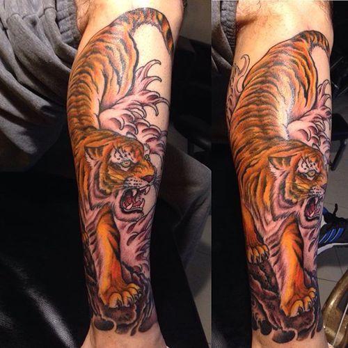 87 Best Tiger Tattoo Ideas Images On Pinterest Design Tattoos