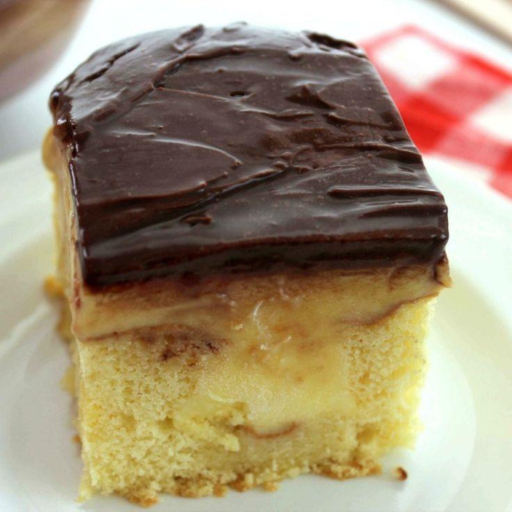 Boston Cream Poke Cake | Recipe (With images) | Crumb ...