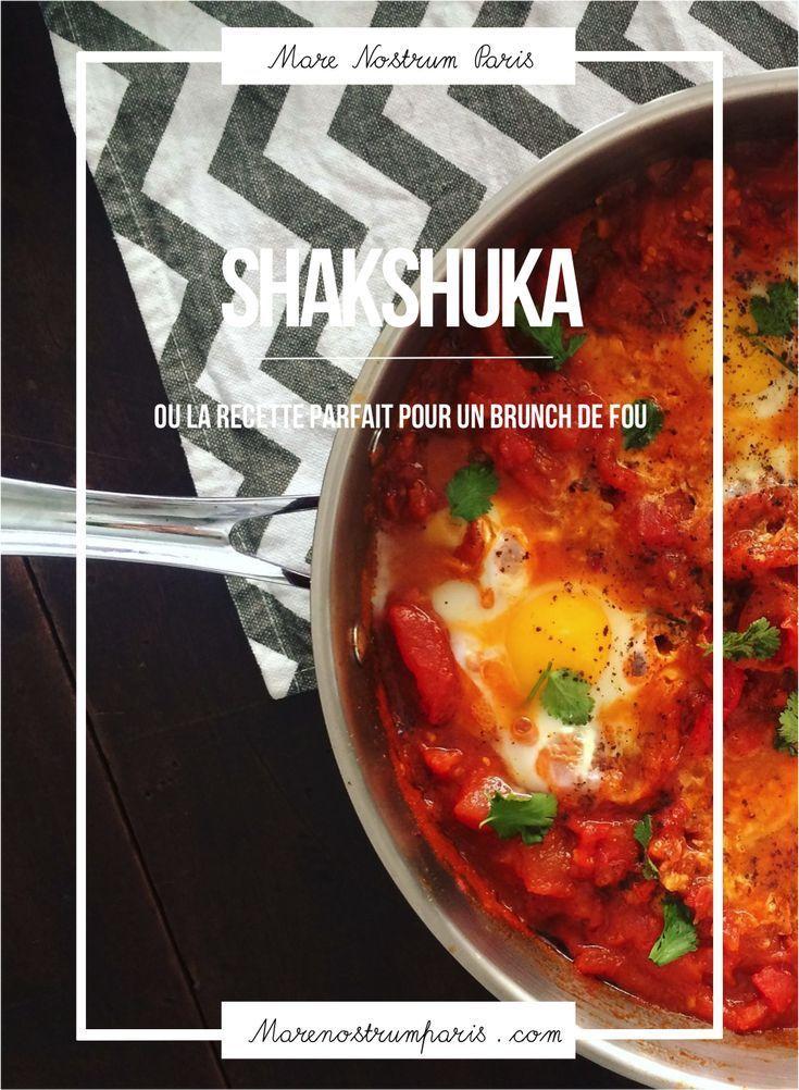 Notre recette facile de la shakshuka. Plat gourmand id�al pour un brunch : des tomates, des poivrons, des oignons, des oeufs et des �pices. #recettefacile #shakshuka #cuisineorientale