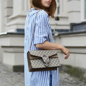 The gucci dionysus bag is effortlessly chic.