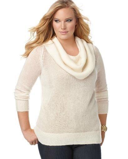 Женский свитер для полных
