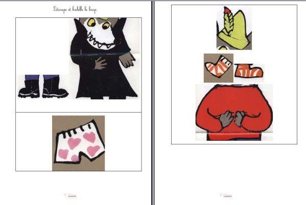 Histoire de loup : 'Je m'habille et je te croque', le vocabulaire de l'habillement.