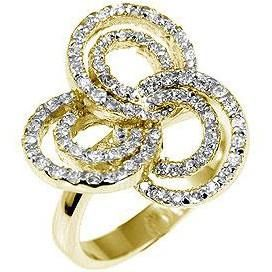 Pave Swirls Fashion Ring